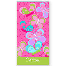 Butterfly Personalized Beach Towel Beach Towel Personalized Bath