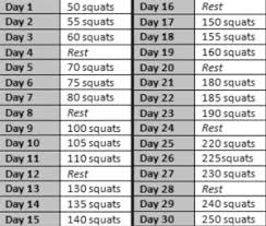 7 Day Squat Challenge Chart 30 Day Squat And Plank Challenge Momonthevergeofsanity