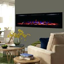 view a large image of the touchstone sideline inch wall mounted recessed electric fireplace black 72 electric fireplace