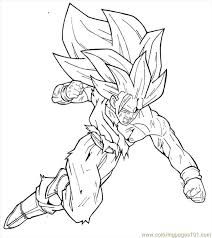 Dragon Ball Z Goku Super Saiyan Coloring Pages Coloring Page