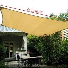 rectangle sun shade 6x4m polyester sail outdoor jpg