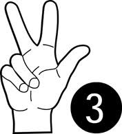 Image result for free clipart of number 3