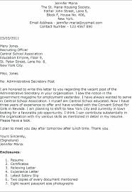 Secretarial Cover Letters For Resumes Letter Secretary Legal With