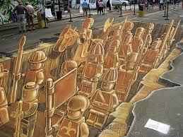 Sidewalk Chalk Drawings 3d Pavement Art And Anamorphic