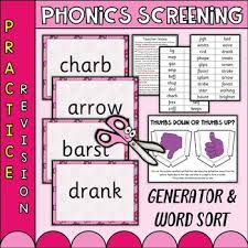 Handwriting worksheet maker make custom handwriting & phonics worksheets type student name, small sentence or paragraph and watch a beautiful dot trace or hollow letter. Phonics Screening Worksheets Teaching Resources Tpt