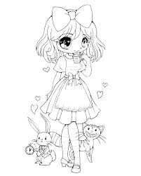 Girl Coloring Pages Girls Coloring Sheets Anime Girls Coloring Pages