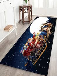 moon night pattern water absorption area rug