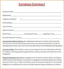 Catering Contract Samples Catering Contracts Template Template Business