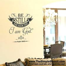 wall decals religious wall art church wall decals be still know i am
