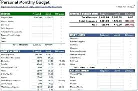 Monthly Budget Excel Template Spreadsheet Examples Unique Bud Forms ...