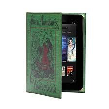 clic book cover for kindle fire and 7 inch tablet devices alice in wonderland