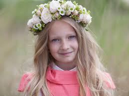 Svadobný účes Podčiarknutý Kvetinami Kvety Silvia