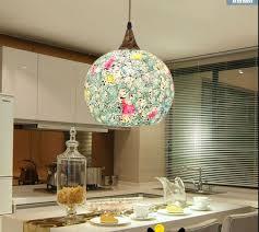 bohemian lighting. free shipping bohemian style blue glass shade soft light shell single head lamp aisle corridor bedroom lighting l