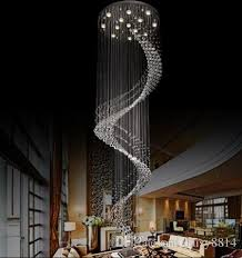 large lighting fixtures. new spiral design large crystal chandeliers modern lighting fixtures lustre de cristal led light hanging lamp stairway chandelier tree branch