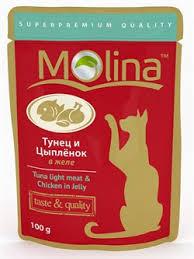 """<b>Molina</b> - <b>Паучи</b> для кошек """"Тунец и цыпленок в желе"""" купить в ..."""