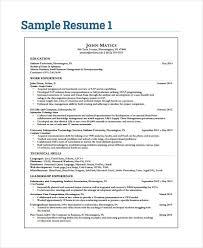 35 Simple It Resume Templates Pdf Doc Free Premium Templates