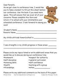 parent teacher conference letters 92 best parent teacher conferences images preschool classroom