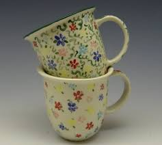 Hand-Painted Floral Mugs