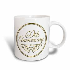 3drose 60th anniversary gift gold text for celebrating wedding anniversaries 60 years married together ceramic mug 11 ounce walmart