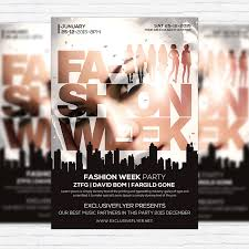 fashion week premium flyer template facebook cover