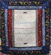 7 best Hockey Quilt images on Pinterest | Hockey games, Hockey and ... & Hockey Quilt Kit. Top, binding and pattern. Adamdwight.com