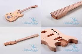 albatross semi hollow double cut guitar kit