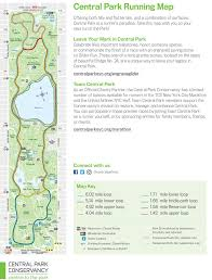 map find the best loops and trails for running in central park