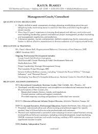 chronological resume example management coach consultant sales coach resume