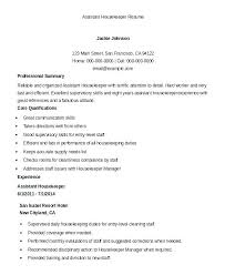Executive Housekeeper Resume Extraordinary Housekeeping Resume Sample Housekeeping Description For Resume