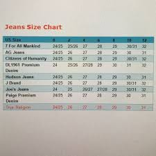 Ag Jeans Size Chart Womens Pin On My Posh Closet