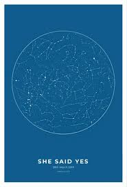 Star Chart Poster Custom Custom Map Prints Star Maps And Personalized Posters