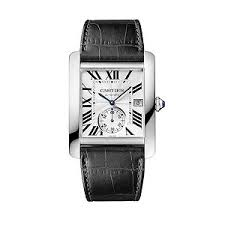cartier watches ernest jones cartier tank mc men s black leather strap watch product number 1459570