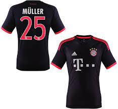 Adidas FC Bayern Munich jersey 25 Thomas Müller 2015/16 Champions League  shirt navy men's S/M/L/XL/XXL football shirt buy & order cheap online shop  - spieler-trikot.de retro, vintage & old football shirts &