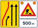 Segnaletica temporanea per cantieri stradali fissi e