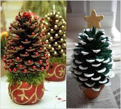 Pinecone Christmas Tree Craft  Home Decorating Interior Design Christmas Crafts Made With Pine Cones