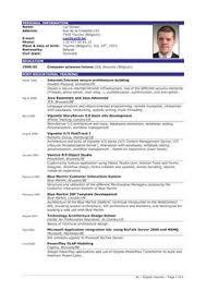 Successful Resume Templates Standard Cv Format Bangladesh Professional Resumes Sample Online