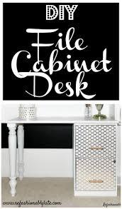 office desk with filing cabinet. DIY File Cabinet Desk Office With Filing S