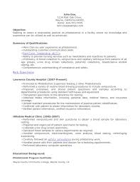 Resume Examples Phlebotomist Resume Templates Design For