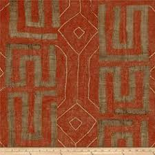 red color rustic beauty kuba print african upholstery fabric per yard 100 cotton