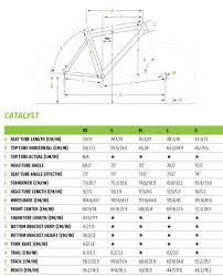 Cannondale Catalyst 3 Size Chart Catalyst 3 Cannondale Bikes Creating The Perfect Ride