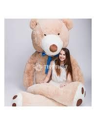 Big Light Brown Teddy Bear Light Beige Giant Teddy Bear 340 Cm 133 Inch Bobo