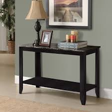 black hallway table. Sarah Black Console Table W/ Grey Marble Top Hallway T