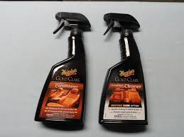 details about lot of 2 meguiar s gold class rich leather cleaner g18516 conditioner g18616