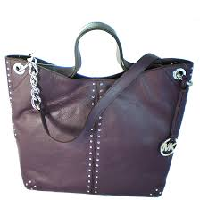 picture of michael michael kors astor large chain shoulder tote purple