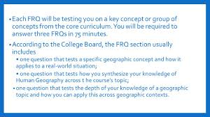 aphg frq tips and tricks each frq will be testing you on a key each frq will be testing you on a key concept or group of concepts from the