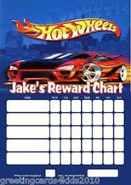 Details About Personalised Hot Wheels Reward Chart Pen With Or Without Photo