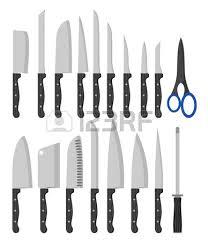 Vector Clip Art Types Kitchen Knives Stock Vector 327261317 Types Of Kitchen Knives