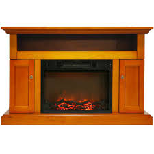 electric fireplace with 1500 watt log insert and entertainment