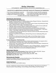 Sample Property Manager Resume New Administrative Assistant Skills