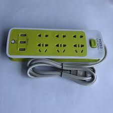 Ổ cắm điện đa năng có cổng usb sạc pin chuyển đổi thông minh chống giật  phích dây dài 1m3 với 6 ổ cắm cùng 3 khe cắm USB chính hãng 59,000đ